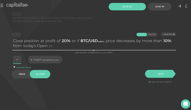 Capitalise trading bot