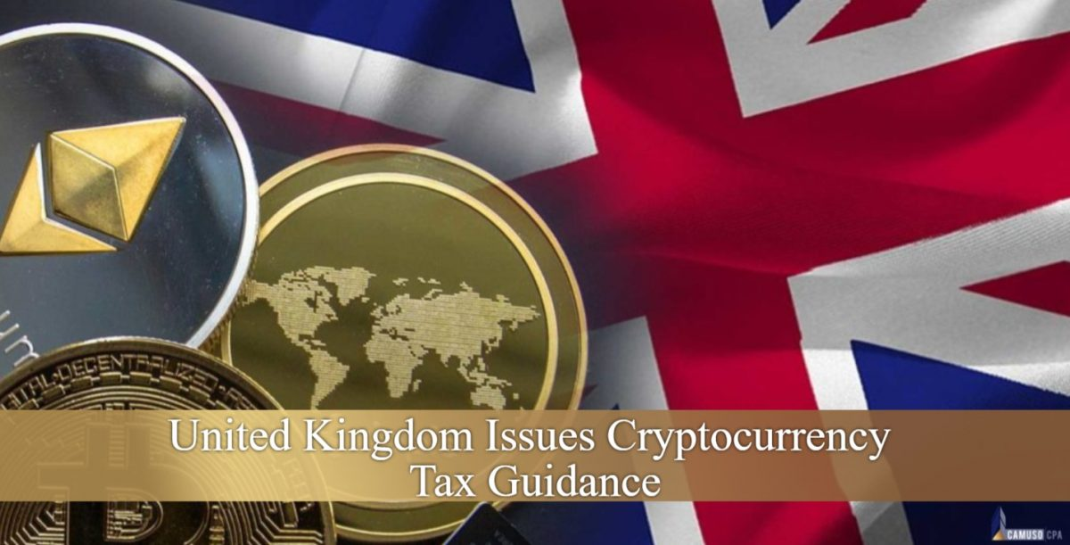 UNITED KINGDOM ISSUES CRYPTOCURRENCY TAX GUIDANCE